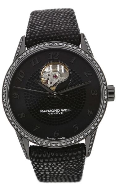 Raymond Weil Raymond Freelancer Dameklokke 2750-BK1-05208 Sort/Lær - Raymond Weil