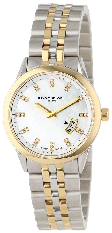 Raymond Weil Freelancer Dameklokke 5670-STP-97091 Hvit/Gulltonet - Raymond Weil