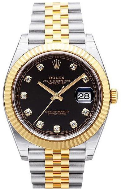 Rolex Datejust 41 Herreklokke 126333-0006 Sort/18 karat gult gull - Rolex