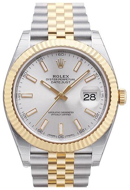 Rolex Datejust 41 Herreklokke 126333-0002 Sølvfarget/18 karat gult - Rolex