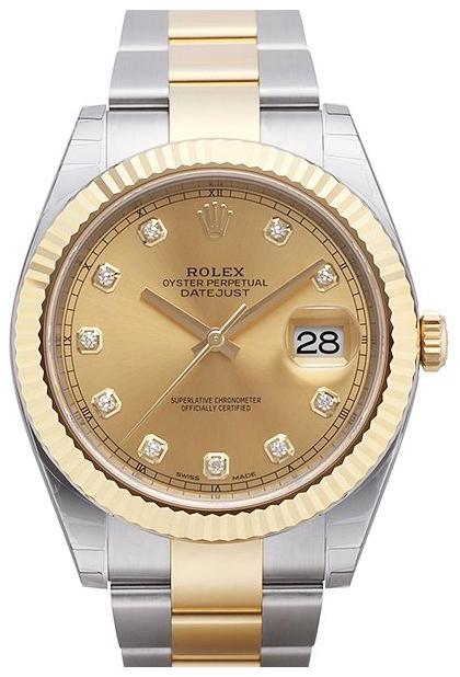 Rolex Datejust 41 Herreklokke 126333-0011 Gulltonet/18 karat gult - Rolex