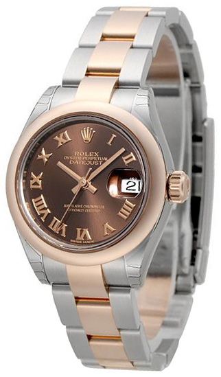 Rolex Lady-Datejust 28 Dameklokke 279161-0010 Brun/18 karat rosé - Rolex