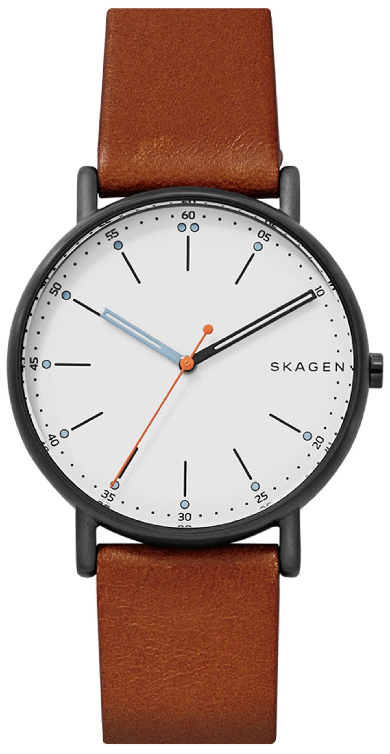 Skagen 99999 Herreklokke SKW6374 Hvit/Lær Ø40 mm - Skagen