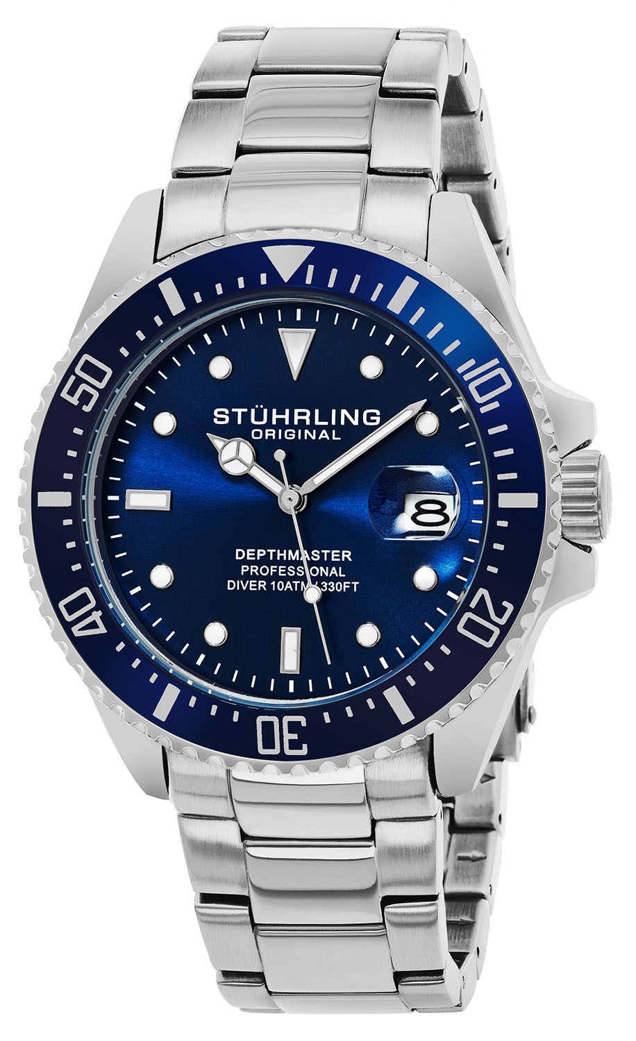Stührling Original 99999 Herreklokke 3950.2 Grå/Stål Ø46 mm - Stührling Original