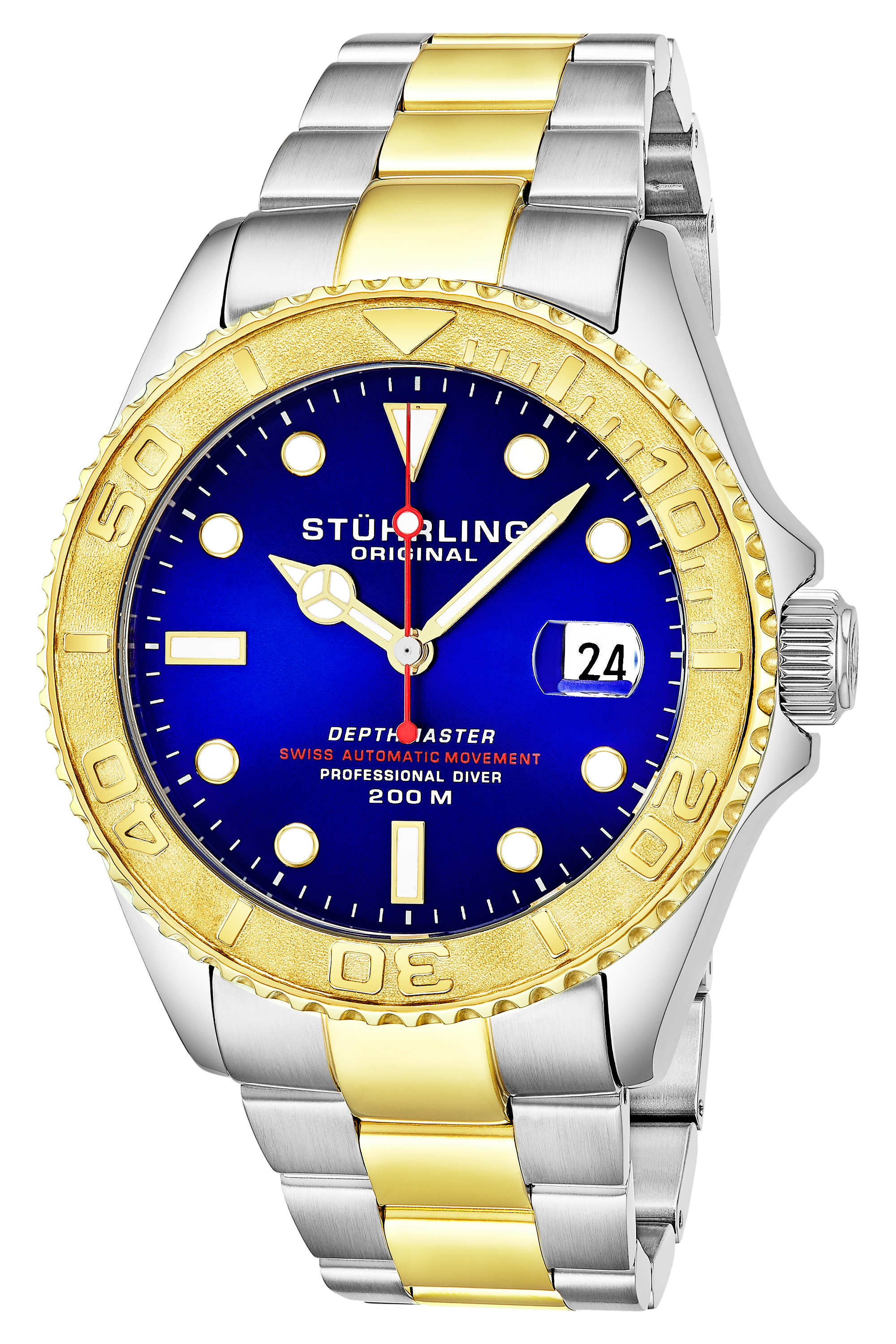 Stührling Original Aquadiver Herreklokke 893.04 Lilla/Stål Ø42 mm - Stührling Original