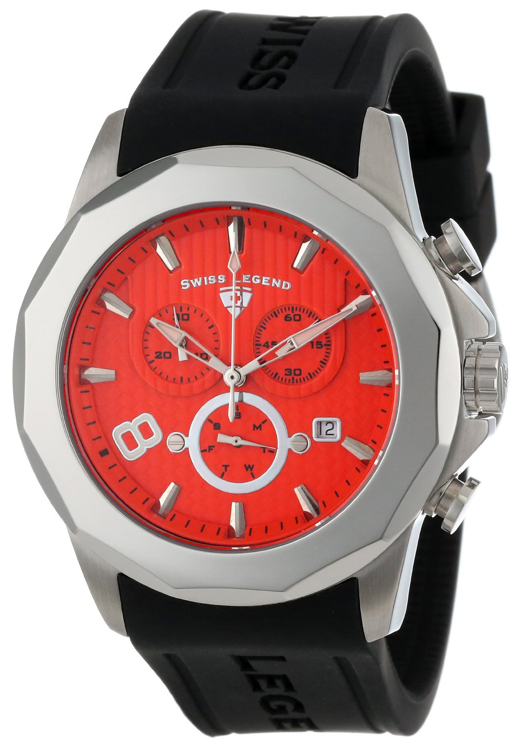 Swiss Legend 99999 Herreklokke SL-10042-06 Orange/Gummi Ø45 mm - Swiss Legend