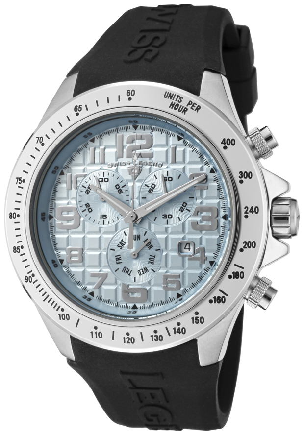 Swiss Legend Eograph Herreklokke SL-30041-012 Blå/Gummi Ø46 mm - Swiss Legend