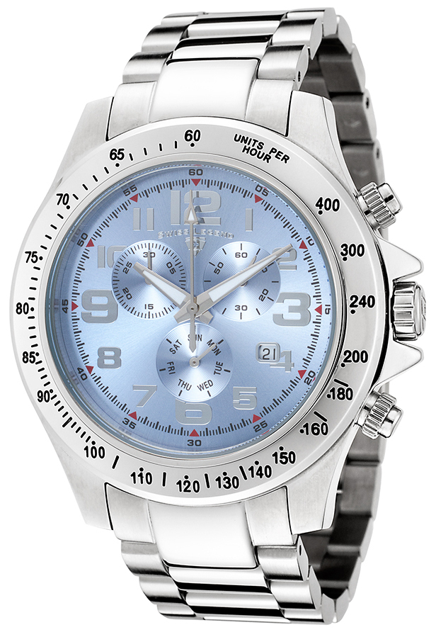 Swiss Legend Eograph Herreklokke SL-50041-102 Blå/Stål Ø46 mm - Swiss Legend