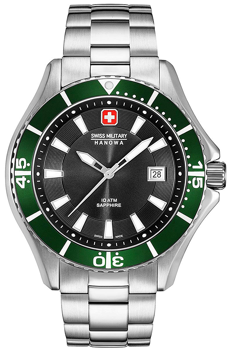 Swiss Military Hanowa Herreklokke 06-5296.04.007.06 Sort/Stål Ø44 mm - Swiss Military
