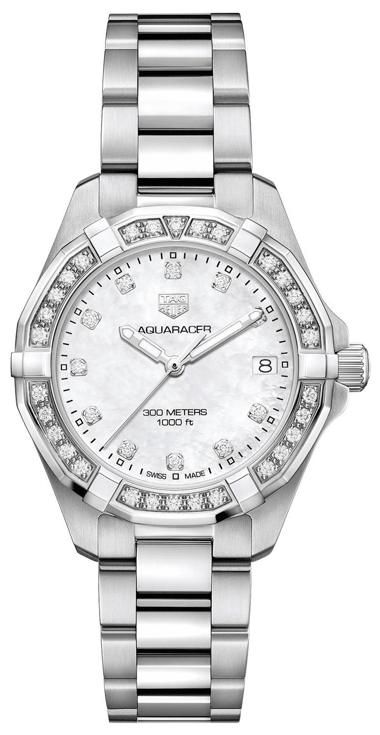 TAG Heuer Aquaracer Lady Dameklokke WBD1315.BA0740 Hvit/Stål Ø32 mm - TAG Heuer