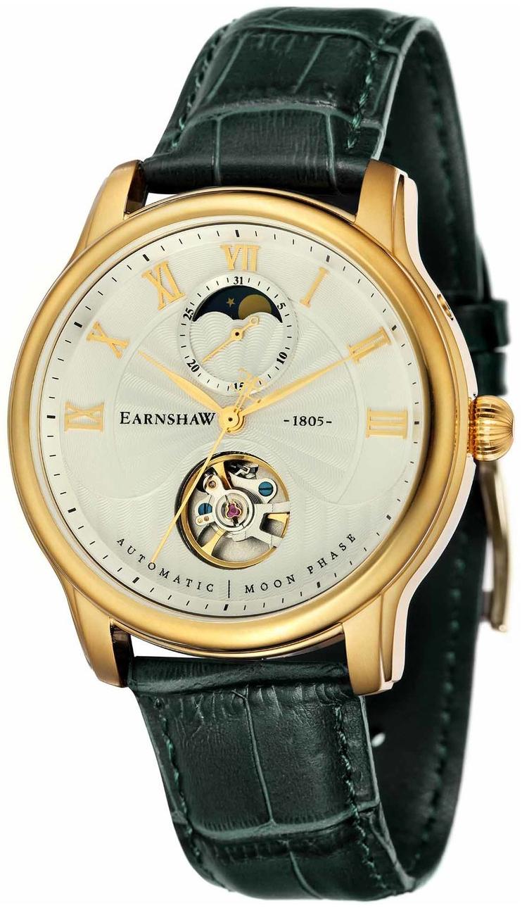 Thomas Earnshaw Longitude Herreklokke ES-8066-03 Sølvfarget/Lær - Thomas Earnshaw