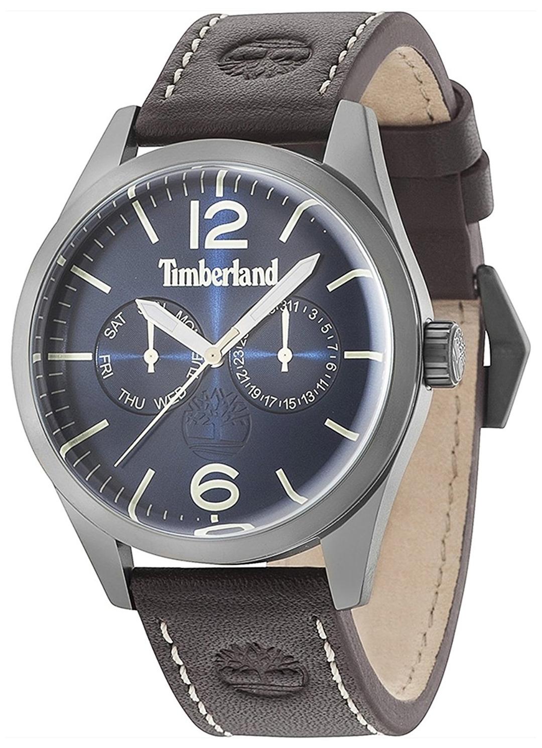Timberland Middleton Herreklokke 15018JSU/03 Blå/Lær Ø44 mm - Timberland