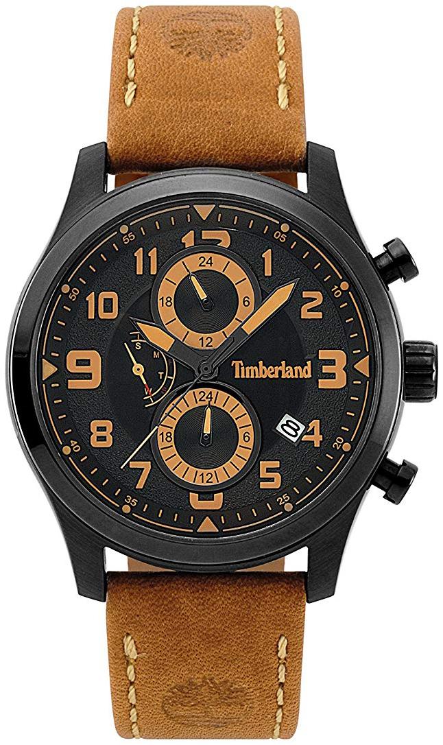 Timberland 99999 Herreklokke 15357JSB/02 Sort/Lær Ø44 mm - Timberland