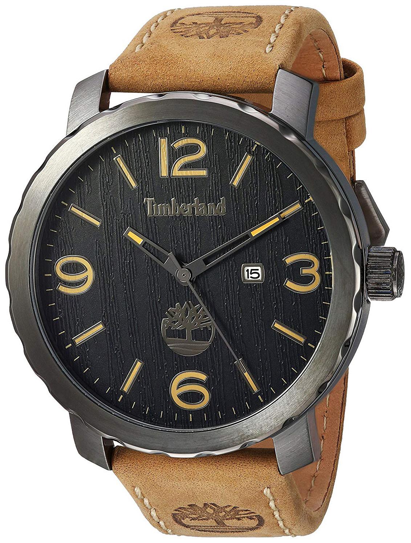 Timberland Pinkerton Herreklokke TBL14399XSU02 Sort/Lær Ø46 mm - Timberland