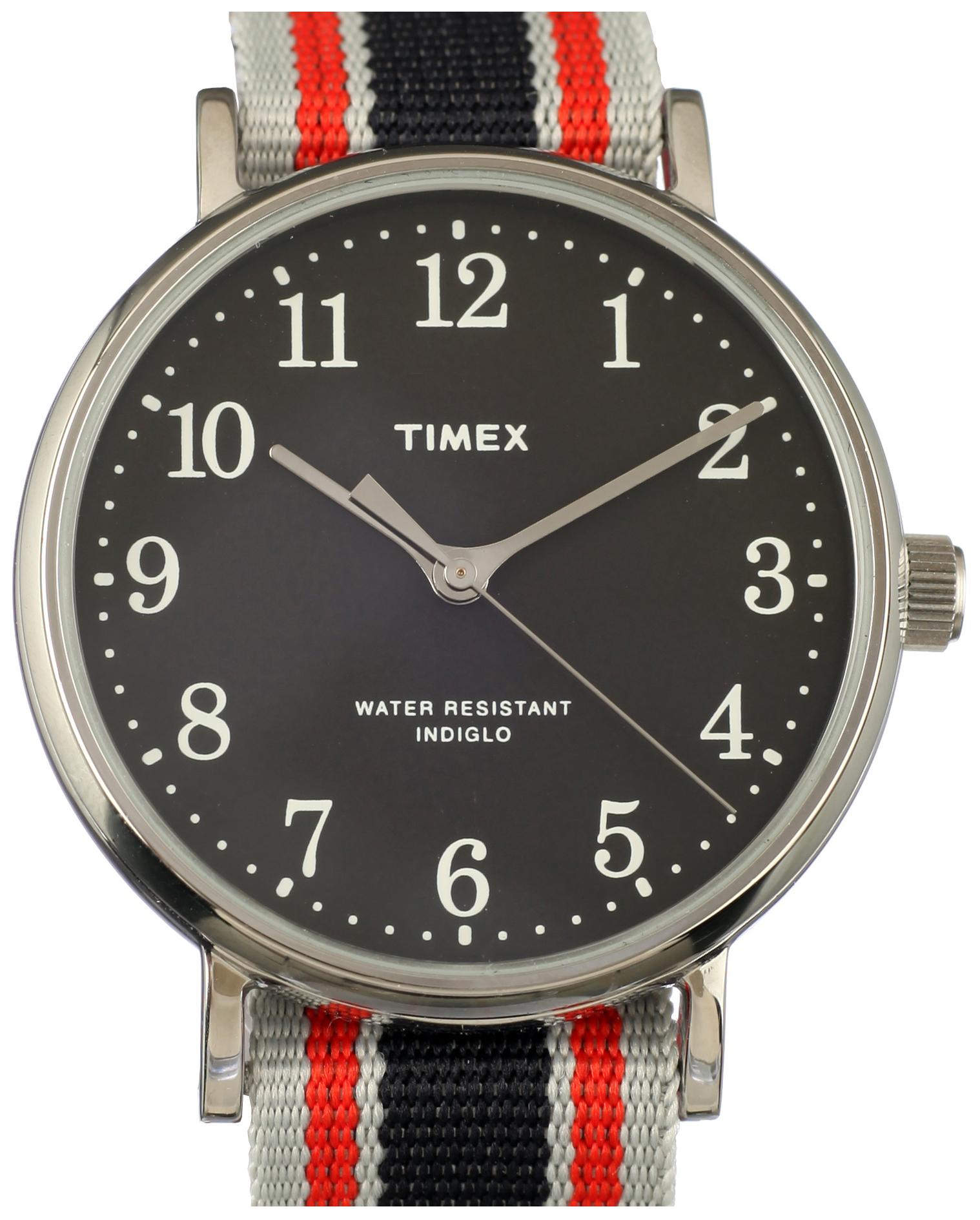 Timex 99999 ABT543 Sort/Tekstil Ø37 mm - Timex