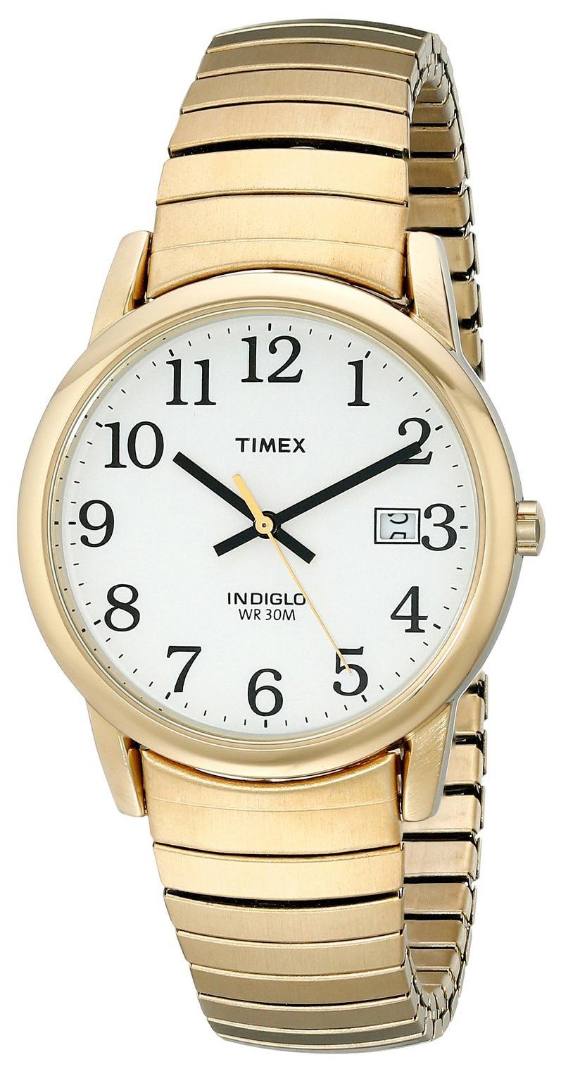 Timex Easy Reader Herreklokke T2H301 Hvit/Gulltonet stål Ø30 mm - Timex