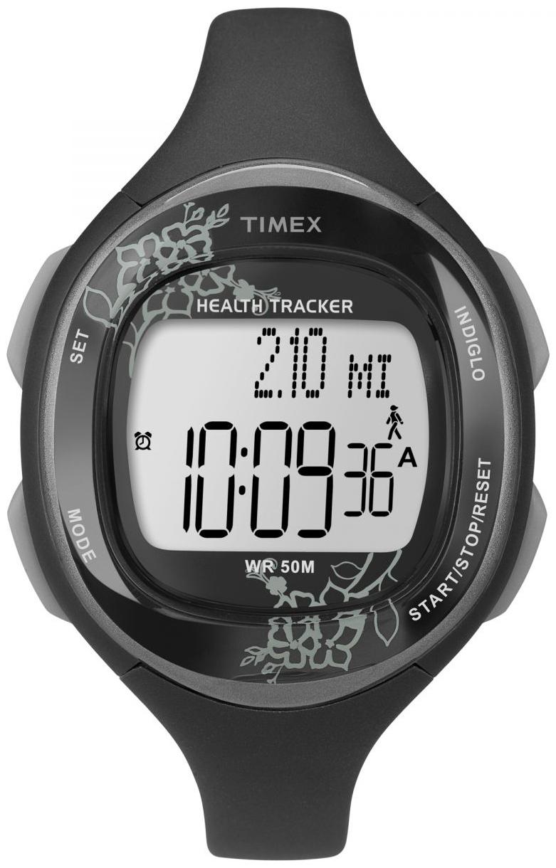 Timex Sports Dameklokke T5K486 LCD/Resinplast Ø37 mm - Timex