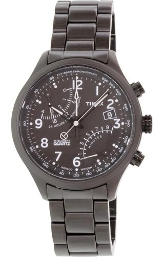 Timex Intelligent Herreklokke TW2P60800 Sort/Stål Ø43 mm - Timex