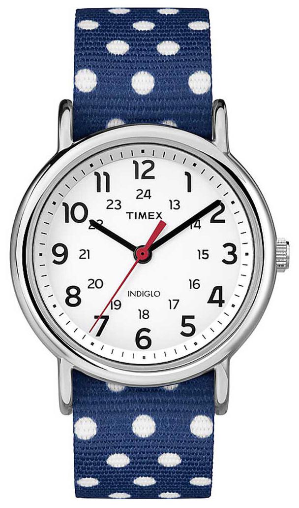 Timex Weekender Dameklokke TW2P66000 Hvit/Tekstil Ø38 mm - Timex