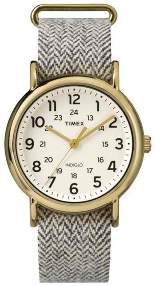 Timex Weekender Herreklokke TW2P71900 Antikk hvit/Tekstil Ø38 mm - Timex