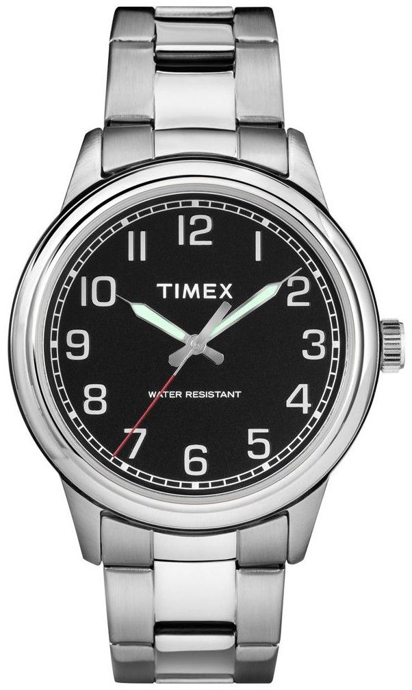 Timex 99999 Herreklokke TW2R36700 Sort/Stål Ø40 mm - Timex