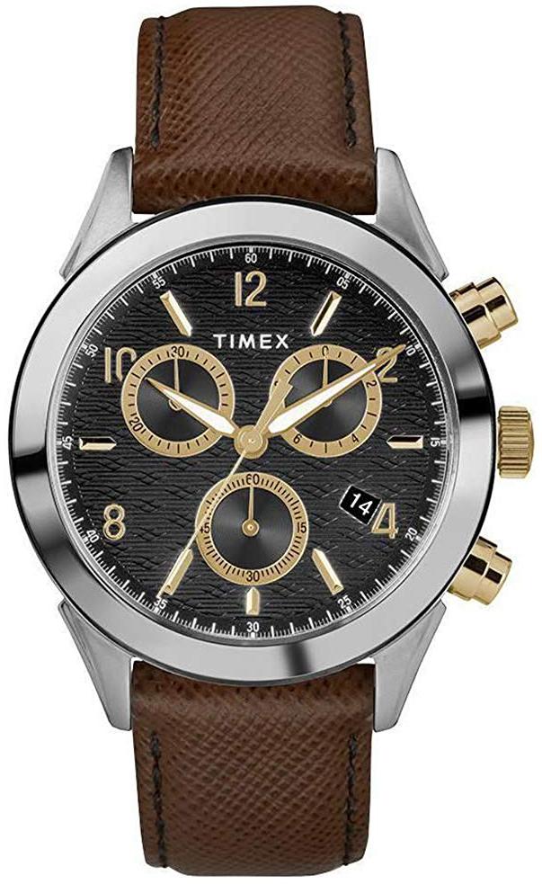 Timex 99999 Herreklokke TW2R90800 Sort/Lær Ø40 mm - Timex