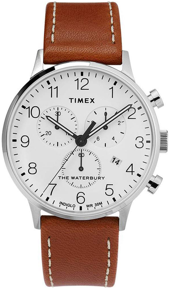 Timex 99999 Herreklokke TW2T28000 Hvit/Lær Ø40 mm - Timex