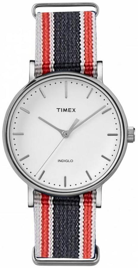 Timex 99999 Herreklokke TW2T97700LG Hvit/Tekstil Ø41 mm - Timex