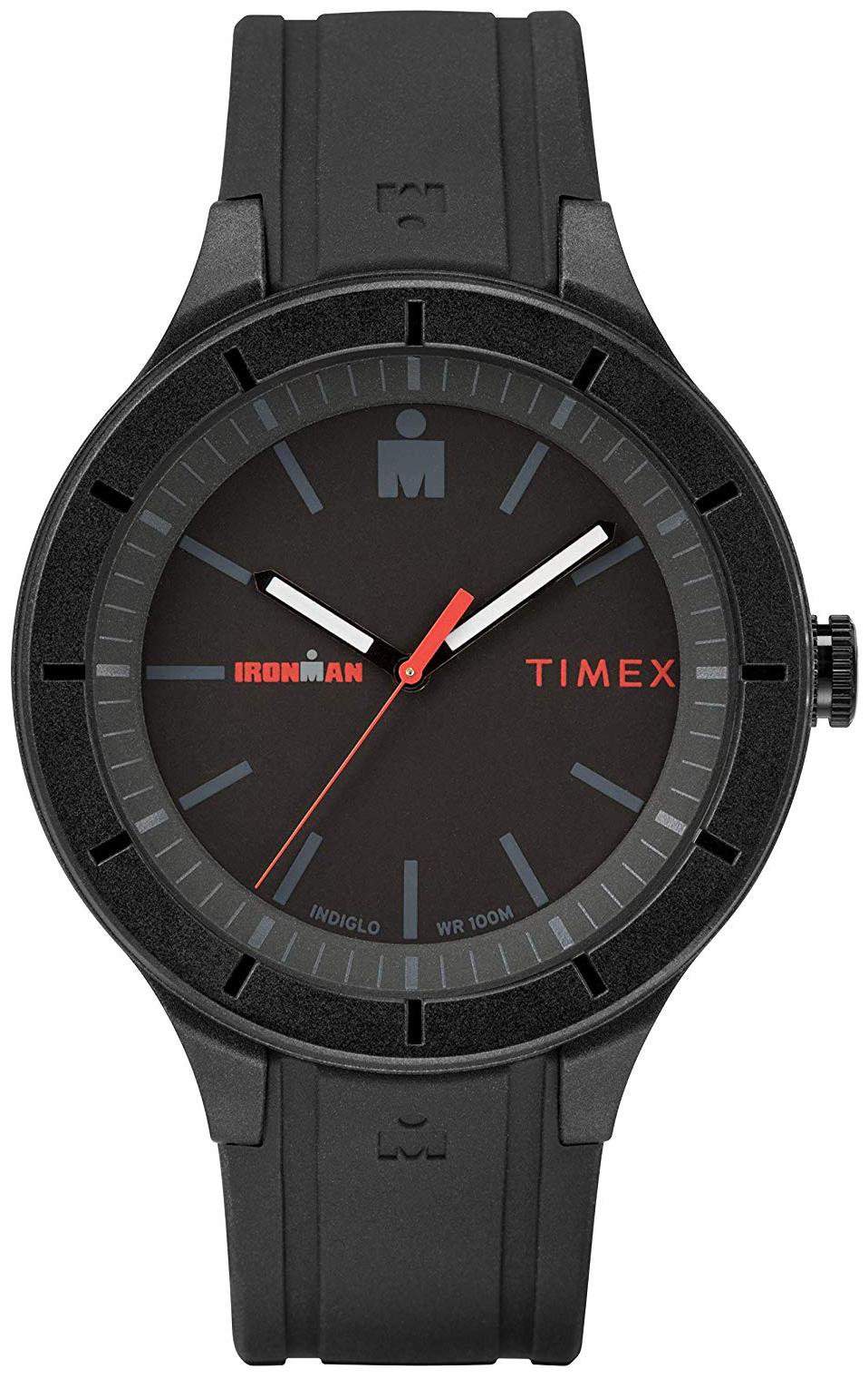 Timex Ironman Herreklokke TW5M16800 Sort/Gummi Ø42.5 mm - Timex