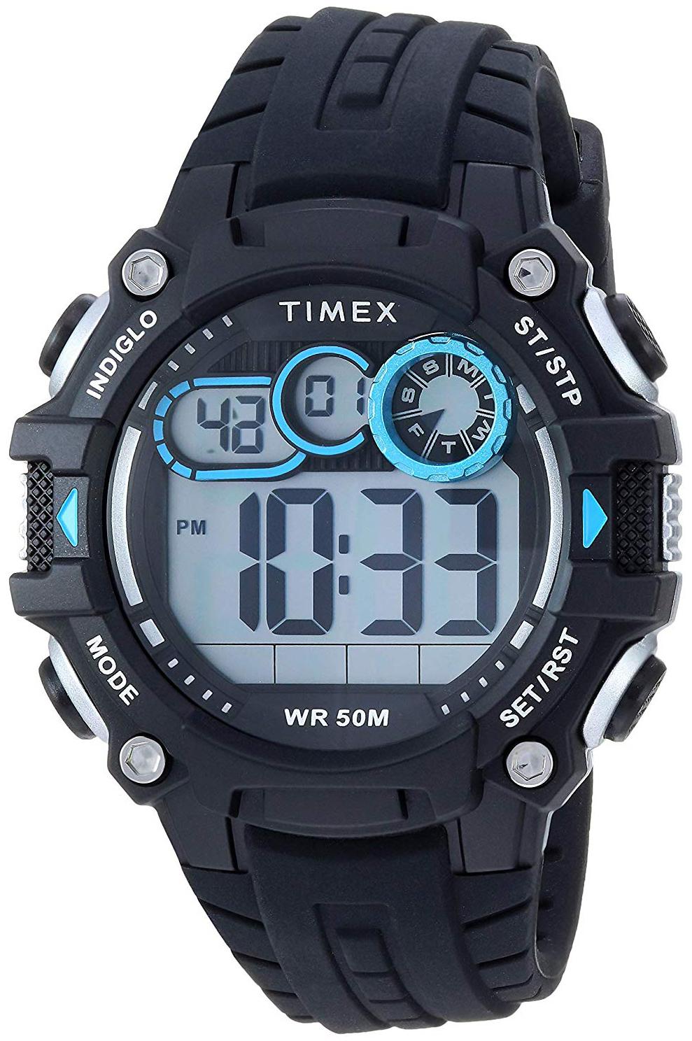 Timex 99999 Herreklokke TW5M27300 LCD/Resinplast Ø48 mm - Timex