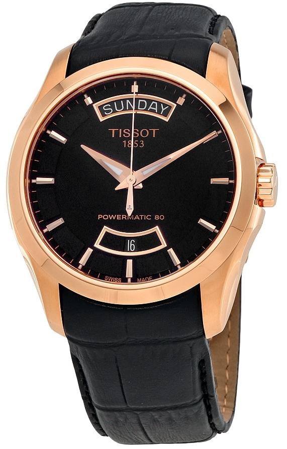 Tissot T-Trend Herreklokke T035.407.36.051.01 Sort/Lær Ø39 mm - Tissot