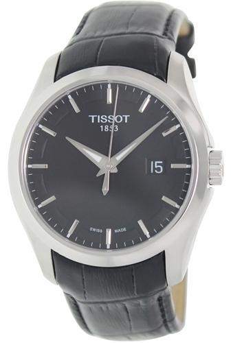 Tissot Herreklokke T035.410.16.051.00 Sort/Lær Ø41 mm - Tissot