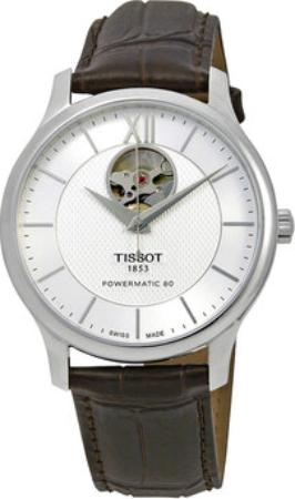 Tissot Tradition Herreklokke T063.907.16.038.00 Sølvfarget/Lær Ø40 - Tissot