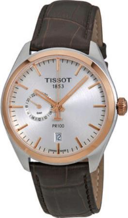 Tissot Pr 100 Herreklokke T101.452.26.031.00 Sølvfarget/Lær Ø39 mm - Tissot