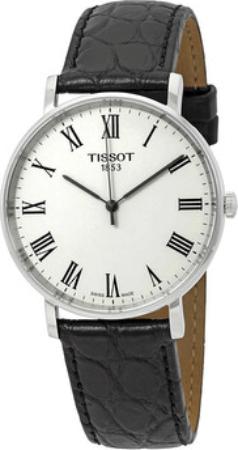 Tissot T-Classic T109.410.16.033.01 Hvit/Lær Ø38 mm - Tissot