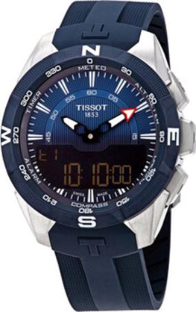 Tissot T-Touch Herreklokke T110.420.47.041.00 Blå/Gummi Ø45 mm - Tissot