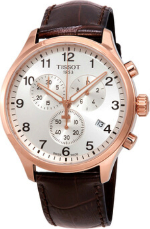 Tissot T-Sport Herreklokke T116.617.36.037.00 Sølvfarget/Lær Ø45 mm - Tissot