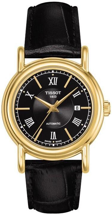 Tissot T-Gold Dameklokke T907.007.16.058.00 Sort/Lær Ø29.5 mm - Tissot
