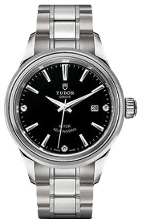 Tudor Style Dameklokke 12100-0004 Sort/Stål Ø28 mm - Tudor
