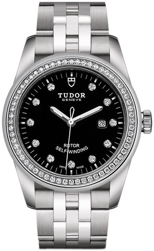 Tudor Glamour Date Dameklokke 53020-0007 Sort/Stål Ø31 mm - Tudor
