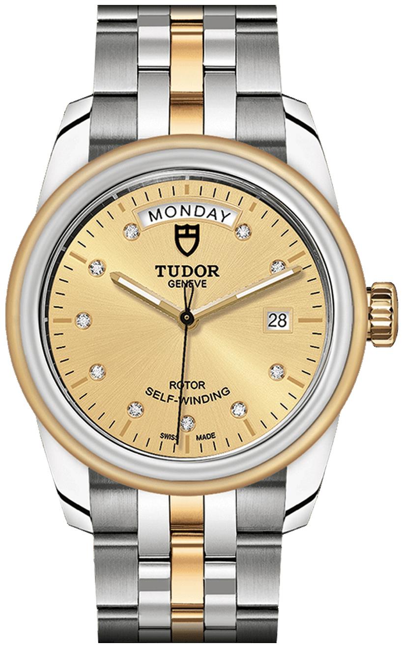 Tudor Glamour Date Day Herreklokke 56003-0006 Gulltonet/18 karat gult - Tudor