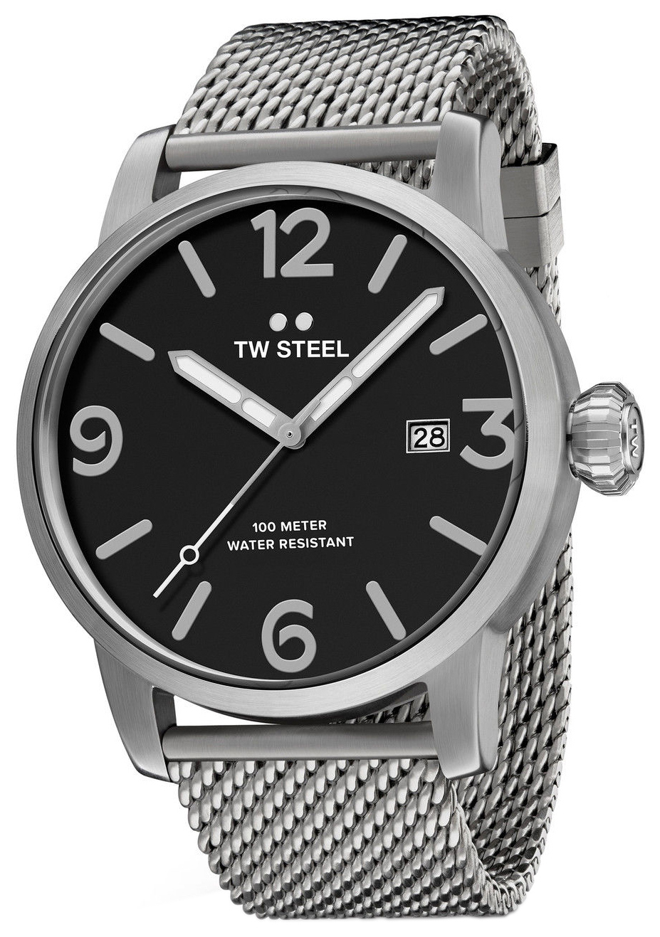 TW Steel Maverick Herreklokke MB11 Sort/Stål Ø45 mm - TW Steel