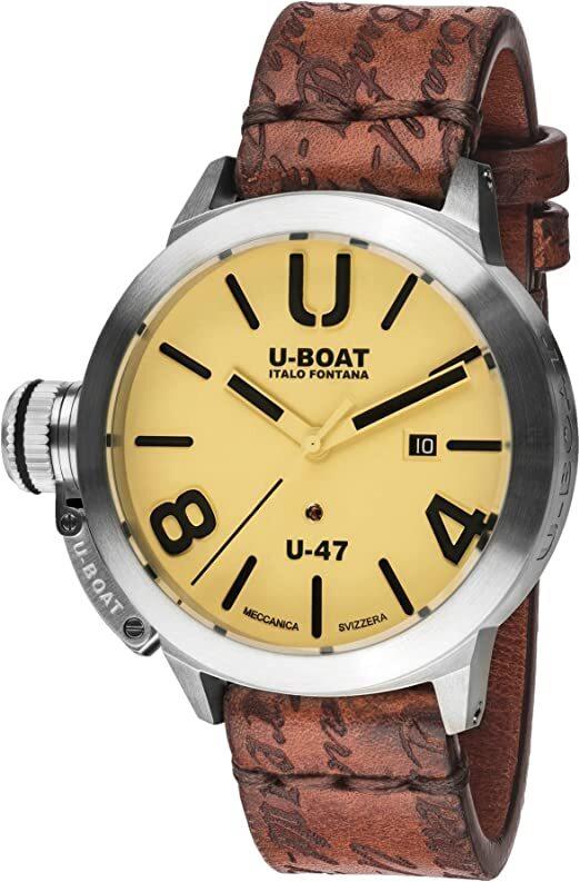 U-Boat Classico Herreklokke 8106 Beige/Lær Ø47 mm - U-Boat