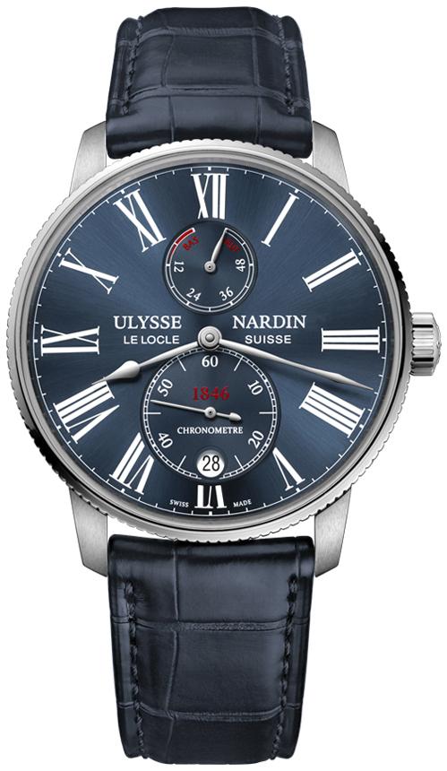 Ulysse Nardin Marine Collection Herreklokke 1183-310-43 Blå/Lær