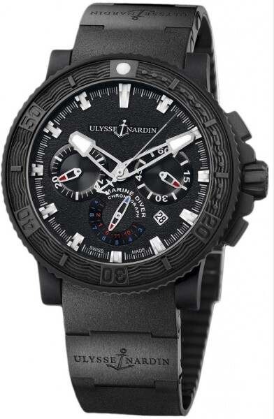 Ulysse Nardin Marine Collection Diver Black Sea Herreklokke 353-92-3C - Ulysse Nardin