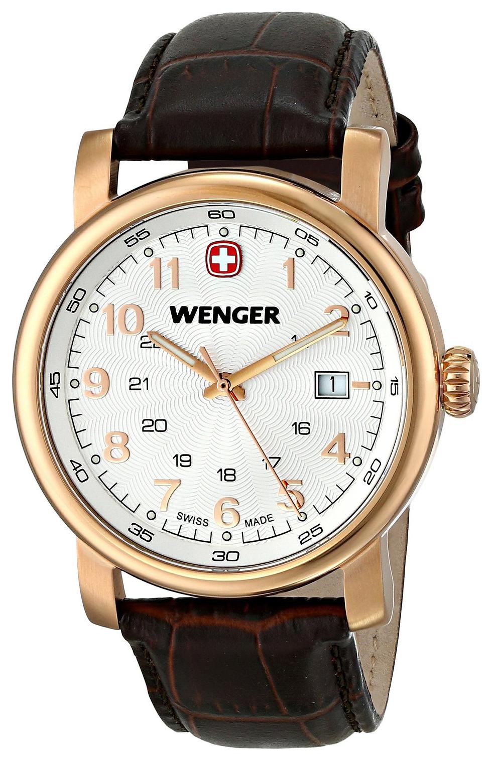 Wenger Urban Classic Herreklokke 01.1041.109 Hvit/Lær Ø41 mm - Wenger