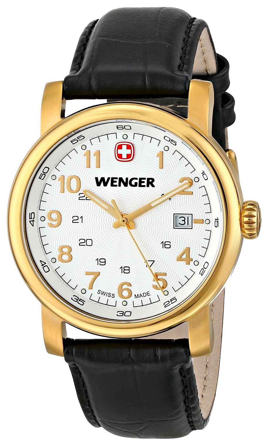 Wenger Urban Classic Herreklokke 01.1041.110 Hvit/Lær Ø41 mm - Wenger