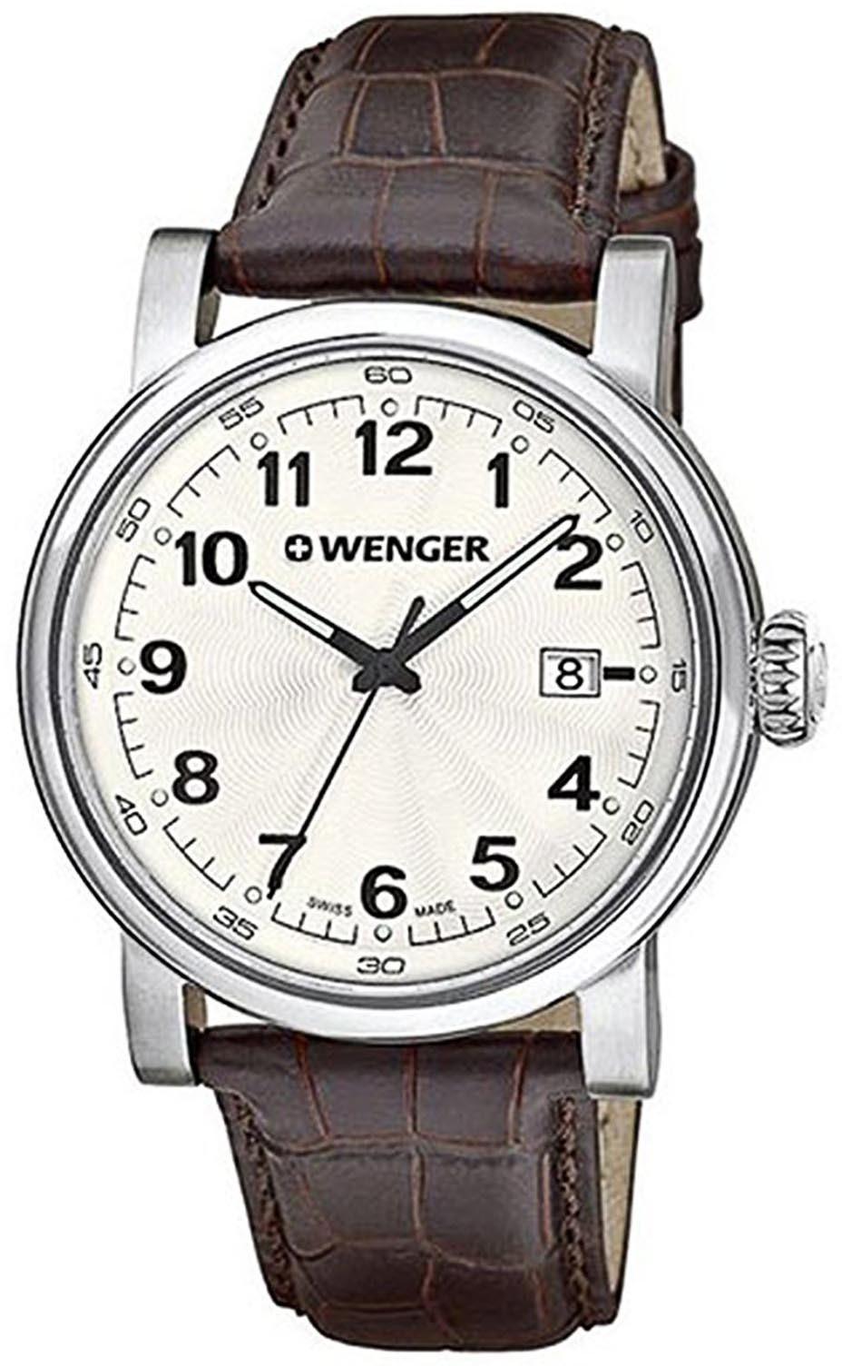 Wenger Urban Classic Herreklokke 01.1041.114 Sølvfarget/Lær Ø41 mm - Wenger