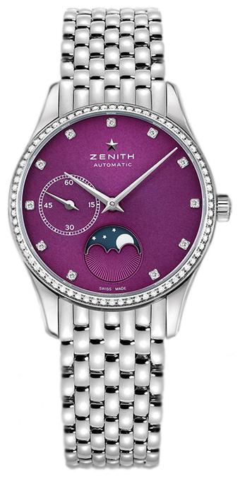 Zenith Elite Ultra Thin Dameklokke 16.2310.692-92.M2310 Lilla/Stål - Zenith
