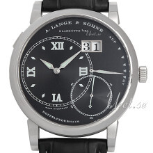 A. Lange & Söhne Lange 1 Sort/Lær Ø42 mm